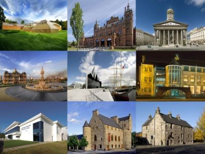 A montage of Glasgow Museums