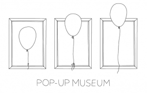 drawing of balloons in picture frames