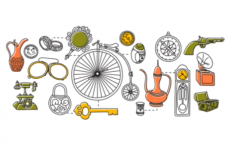 illustration of a collection of objects