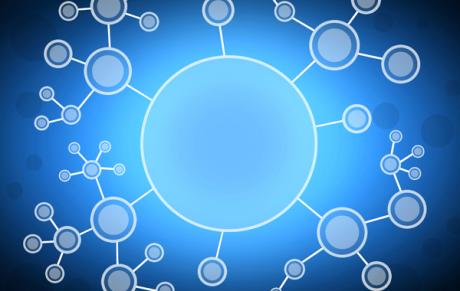 scientific arrangement of connected circles