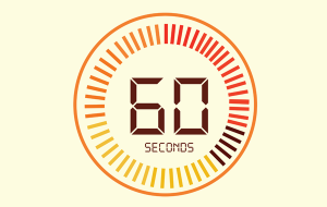 Timer with 60 seconds showing