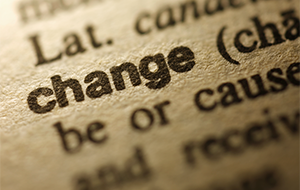 the word change highlighted in a dictionary